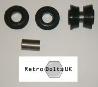 Outer Track Control Arm (TCA) Black Polyurethane Bushes PAIR - MK1 ESCORT